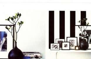 A decoração não precisa ser inteira na cor preta, os objetos podem ajudar a decorar o ambiente com elegância