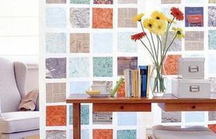 A técnica de fazer mosaicos na parede é simples e custa pouco. Pode ser feita com retalhos de pano