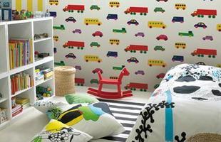 No quarto das crianças é possivel abusar das cores, texturas e estampas