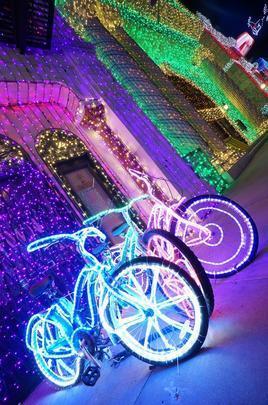 As bicicletas conferem um ar divertido à decoração