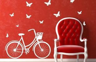 Os adesivos divertidos também podem complementar a decoração dos ambientes