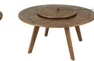 Mesa redonda 153 Com 153 cm de diâmetro, a proposta de mesa redonda da Linha Leblon atende até seis pessoas. Para facilitar o serviço das refeições, pode ser usada com ou sem bandeja giratória.