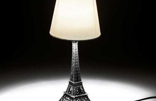 Abajur Torre Eiffel Branca