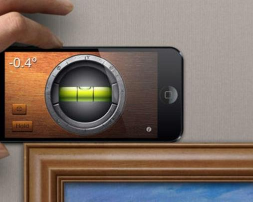 iHandy Level Free: quadros e molduras desnivelados nunca mais! Você abre o app, nivela o celular e leva à parede para ajustar o enfeite. Disponível para ios.