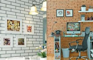 Também existem papeis de parede inspirados nos tijolinhos