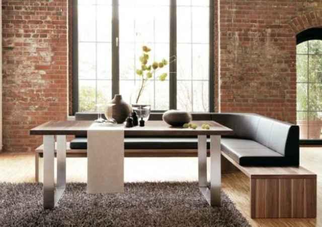 Uso do sofá é tendência para a sala de jantar - Divulgação hülsta