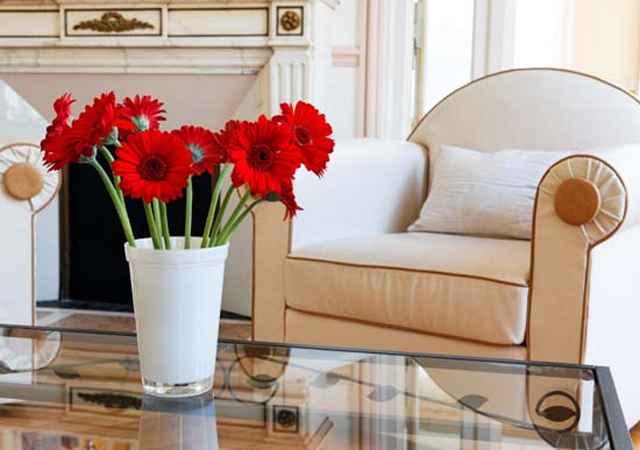 Os vasos de flores d�o mais cor ao ambiente (Reprodu��o/Internet)