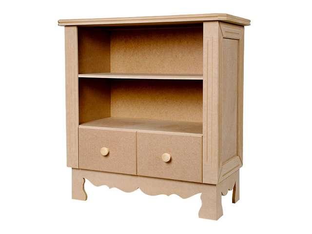 Móveis em MDF têm design e formas diferenciadas, o aparador pode ser utilizado na sala de jantar, bem como na sala de estar - Divulgação/Kakos