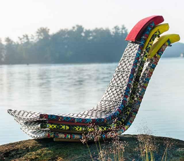Cadeiras com design diferenciado representam um novo conceito de decoração para ambientes externos e ainda são resistentes e duráveis  - Divulgação/Collectania
