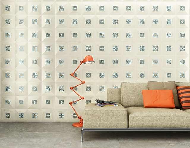 Linha de porcelanatos traz combinado ao padrão madeirado, o azulejo português, capaz de tornar os ambientes sofisticados - Divulgação/Biancongres