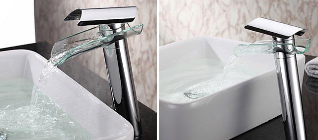 Linha Piemonte une estilo e conforto como itens mais marcantes do misturador monocomando para lavatório em acabamento cromado e vidro especial - Eternit/Divulgação