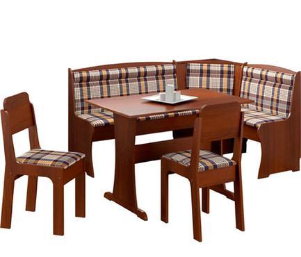 Conjunto de mesa com banco de canto, da Mobly (R$ 1.199) - Divulgação/Mobly