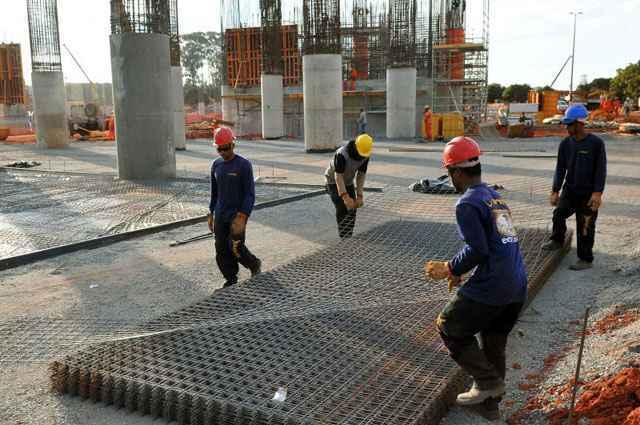 A Utilização da Capacidade de Operação (UCO) registrou 70% no mês passado, um ponto percentual acima da UCO de dezembro de 2013 - Marcelo Ferreira/CB/D.A Press