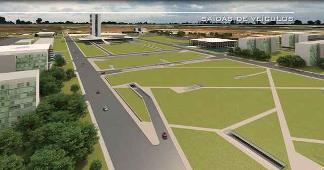 O projeto foi anunciado pelo governador em janeiro do ano passado e previa um estacionamento subterrâneo com 10 mil vagas - Divulgação/Ascom GDF - 31/01/2013