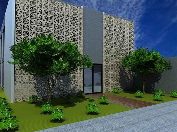 Fachada de um restaurante Tailandês projetado pela arquiteta Débora Bozzo  - Divulgação/Débora Bozzo