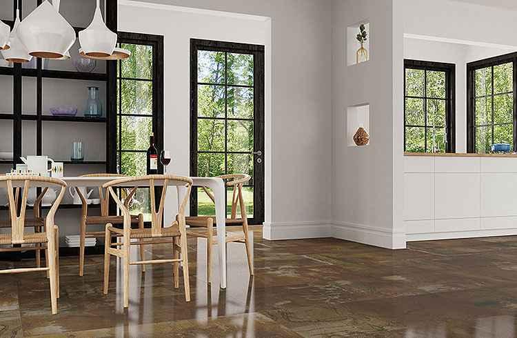 Copper HD remete à ação do tempo e da oxidação no metal resgatado para uso decorativo - Cerâmica Portinari/Divulgação