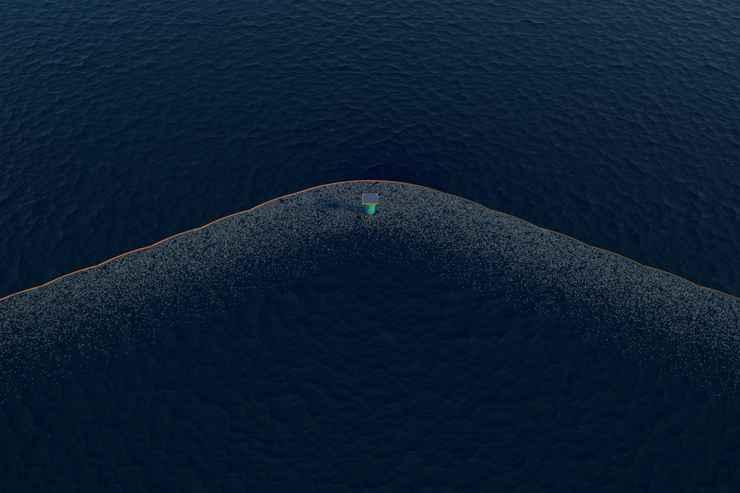 O sistema recolhe 65 m² de lixo por dia  - The Ocean Cleanup/Divulgação