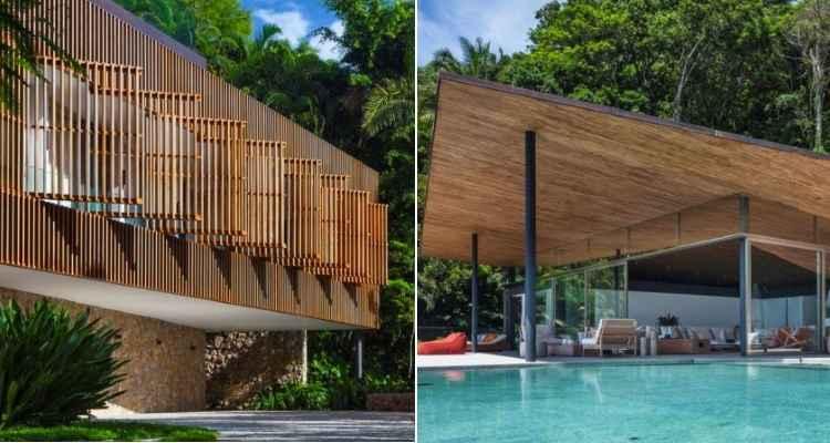 A Casa Delta, localizada no Guarujá, foi eleita pelo júri especializado como melhor residencial acima de 278 m² -
