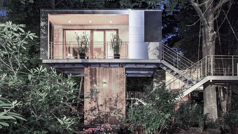 'Urban Treehouse', a casa na árvore urbana de Berlim, na Alemanha - Reprodução / Internet