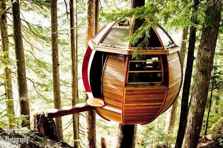 The HemLoft, em Whistler, no Canadá, construído apenas com materiais gratuitos - Reprodução / Internet
