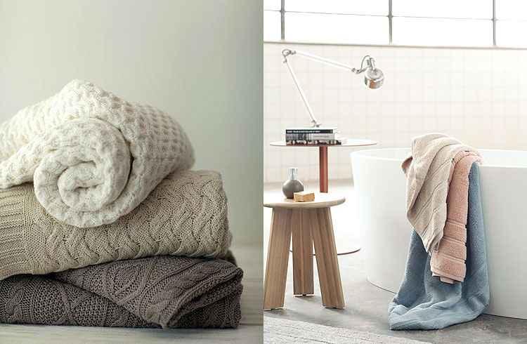 Para as toalhas, as cores mais calmas nunca saem de moda e combinam com a decoração de qualquer banheiro - Gabriel Arantes/Casa by Buddemeyer/Divulgação