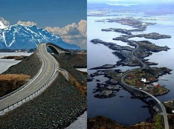 Atlantic Ocean Road (Noruega) - Reprodução / Internet