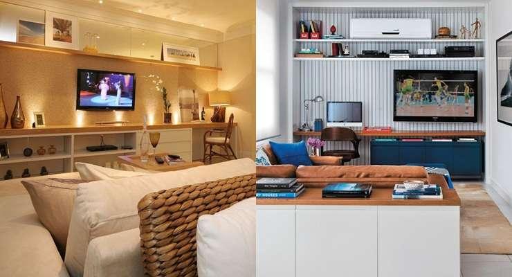 Como Montar Uma Sala De Tv Moderna ~ Confira as dicas para montar uma sala de TV aconchegante e estilosa
