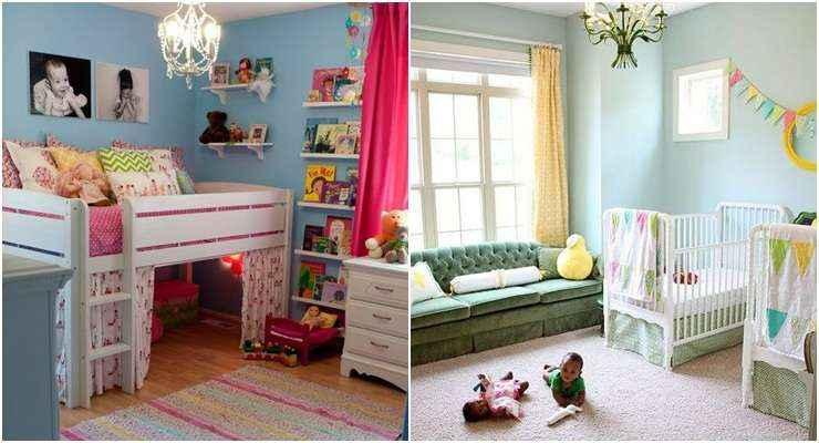 No projeto da Villa Maria, o azul é suave e se mistura facilmente com as demais cores do quarto, mostrando porque é tendência - Reprodução/Internet