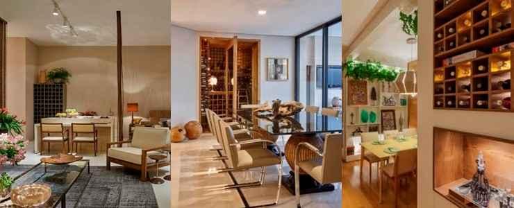 A adega pode estar conectada a área gourmet, integrada a sala de jantar ou apostar na automatização  - Jomar Bragança