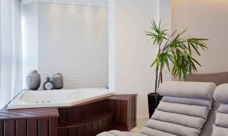 O revestimento 3D é o tipo de material procurado para áreas como banheiro, cozinha, lavabo, sala e varanda pela facilidade de manutenção - Rodrigo Mercandier