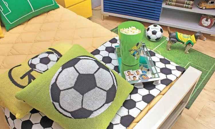 O futebol está no topo da lista dos pedidos para os decoradores - Juliana Buli/Divulgação