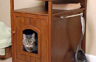 Para economizar espaço, o armário virou uma casinha