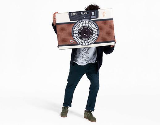 Puff no formato de uma camera fotográfica para os apaixonados por fotografia