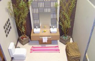 As plantas também podem servir como decoração para banheiros e lavabos