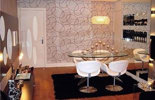 Papéis de parede com formatos geométricos são tendência