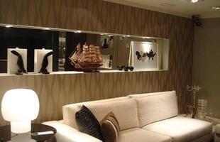 Para quem quer um ambiente mais sofisticado, o papel de parede também pode ser usado