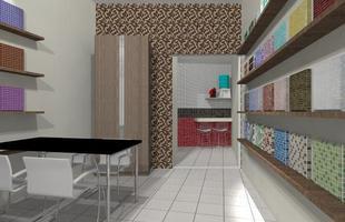 As clássicas pastilhas são versáteis e também são opções elegantes para painéis e salas de estar. Podem revestir áreas amplas da parede ou apenas dispostas em faixas