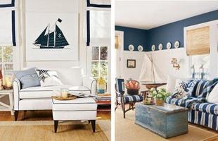 A idéia é trazer a atmosfera marítima para dentro de casa e deixar a decoração mais descontraída e criativa