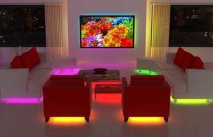 A decoração futurista investe em formas redondas e exóticas , faz alusão ao espaço e ao cosmos, abusa de cores contrastantes e néons, e claro, conta com vários aparelhos tecnológicos