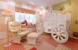 Para quarto de recém-nascidos, é importante que haja uma cama de apoio para a mãe descansar durantes as noites em que precisa vigiar o bebê