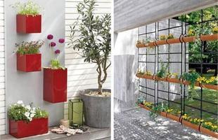 Esses jardins, em que as flores são colocadas nas paredes, trazem vida para dentro de casa e o melhor, sem ocupar muito espaço.