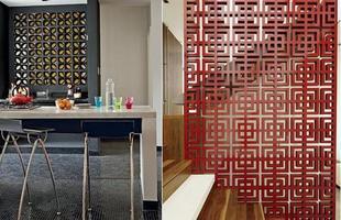 O cobogó pode ser usado como divisória de qualquer cômodo da casa, como sala, home-office, varanda e cozinha