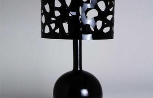 Luminária de Mesa Mosaico Preta em esculturas e objetos tridimensionais.