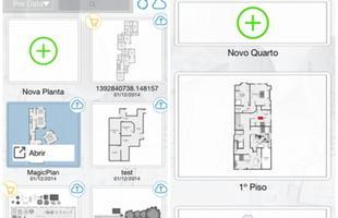 Magic Plan: direcione a câmera do celular para os cantos do ambiente em questão e o programa vai medi-lo e criar a planta baixa do cômodo. Disponível para ios.