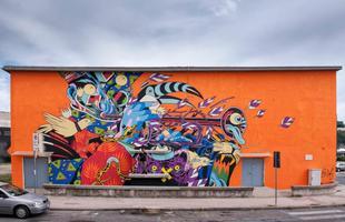 Mural feito na Itália