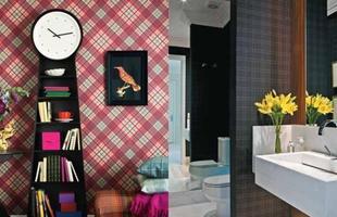 O clássico xadrez pode fazer parte da decoração também nas paredes