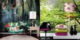 Um papel de parede ou fotomural pode levar a natureza para os interiores
