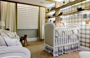 Quarto do bebê Luxo Urbano: o espaço que é uma réplica de um apartamento da Via Engenharia, localizado no Setor Noroeste. As profissionais buscaram aproveitar todo o local e usá-lo de maneira funcional