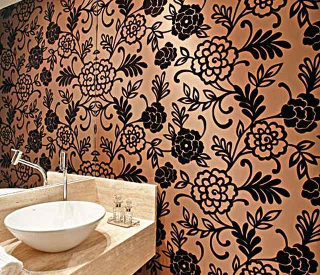 Papeis de parede feitos com tecido dão um ar nobre ao ambiente - Reprodução/Internet