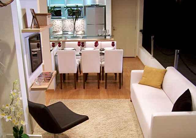 Os imóveis estão cada vez menores. Hoje não é raro encontrar um lançamento de dois quartos em torno de 55 m² - Reprodução/Internet